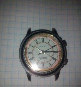 Часы Полет с будильником. 18 камней. СССР