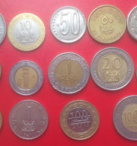 Монеты стран Азии,Европы,Африки,Америки