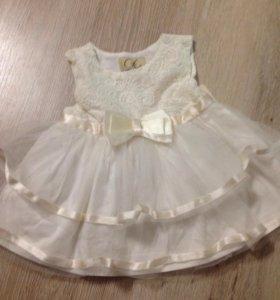 Платье на выписку р56-62