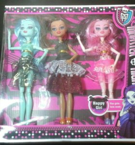 Подарочные наборы из трех кукол монстров
