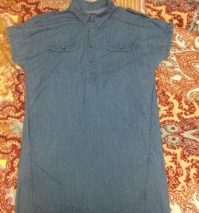 Рубашка туника джинсовая