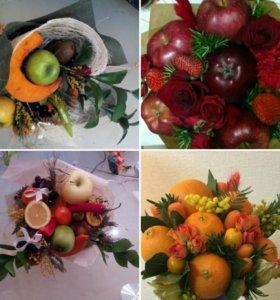 Букеты из овощей,фруктов и другой вкуснятины.