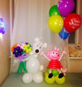 Гелиевые шары, фигуры из шаров, цветы из шаров