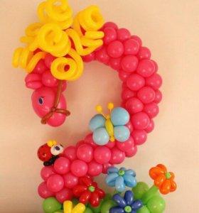 Цифры/буквы из воздушных шаров