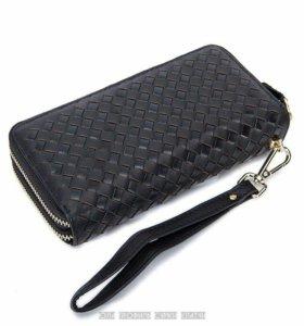 Мужской кожаный клатч портмоне барсетка кошелек