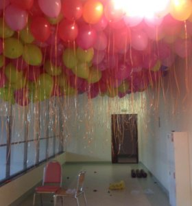 Воздушные шары в потолок