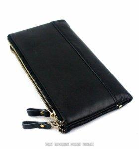 Мужское портмоне клатч кошелек бумажник кожаный