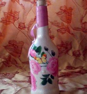 Декоративные бутылки на заказ