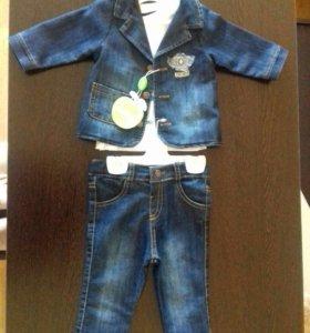 Джинсовый костюм на ребенка