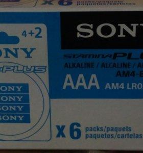 36 батареек AAA Sony Stamina Plus LR03