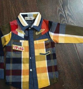 Рубашка для мальчика 2 года