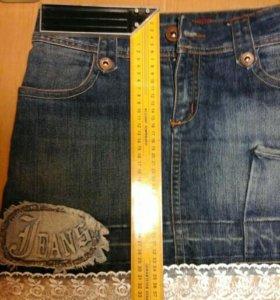 Юбка джинсовая(мини)HandMade