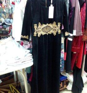 Платье велюр Турция