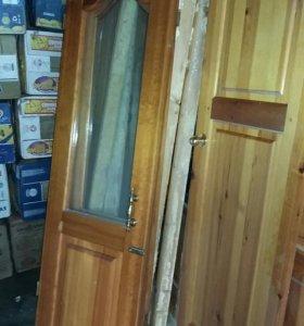 Двери деревянные б.у в хорошем состоянии.