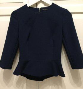 Блузка с баской xs