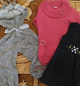 Комбинезон,платье-туника и сарафан на 6лет