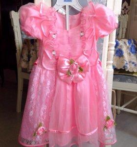 Новое платье розочка