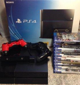 PlayStation 4+20 игр+2 джоя+камера