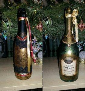 Оформление бутылок на праздник