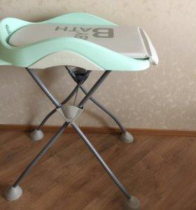 Пеленальный столик + ванночка Beaba