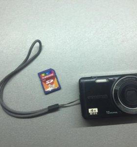 Фотоаппарат Олимпус 4x wide + флешка Transcend 2Gb