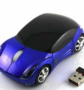 Беспроводная мышка в форме машинки