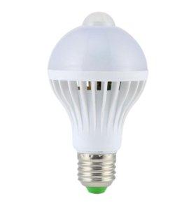 Лампа с датчиком движения 220В 9Вт цоколь e27