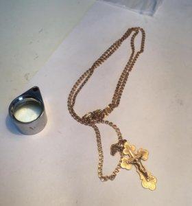 Продам золотую цепь с крестиком 7грм