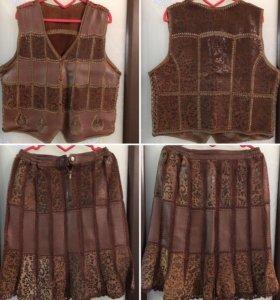 Костюм(юбка, жилетка)