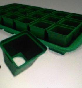 Ящик для рассады. Горшочки, горшок, стакан, поддон