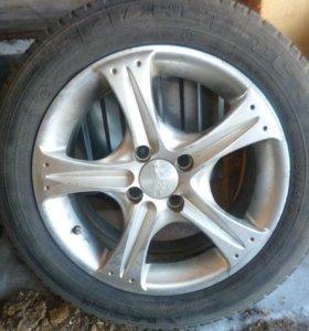 Летние колёса на литых дисках.тел, 89625207436