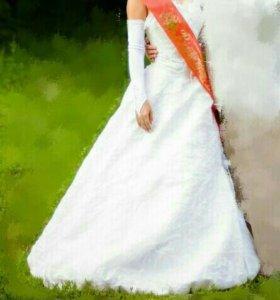 Платье свадебное-выпускное