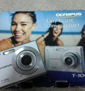 компактная фотокамера Olympus T-100 б/у