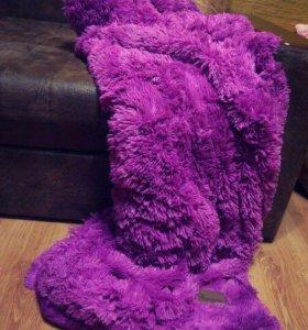 Плед мохнатый фиолетовый