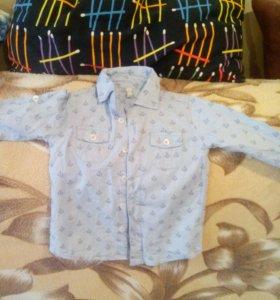 Рубашка на мальчика 80 р.новая
