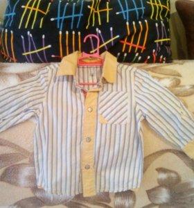 Рубашка на мальчика 80 р. Новая