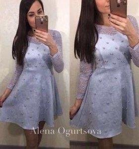 платье замшевое новое 42 размер возможно на м
