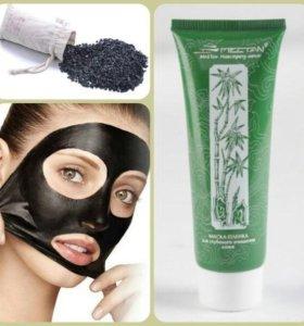 Черная маска - плёнка для глубокого очищения кожи.