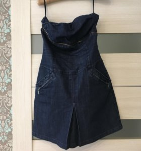Платье джинсовое 46р
