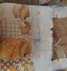 Детский комплект в кроватку для мальчика.