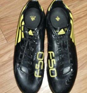 Футбольные бутсы Adidas F50 43р