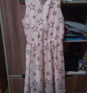 Платье(розовое,со звёздочками)