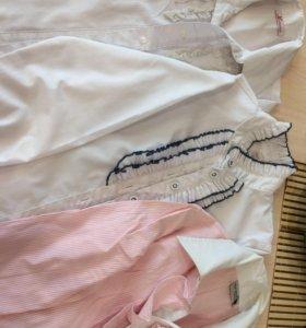 Блузки на девочку 7-8 лет