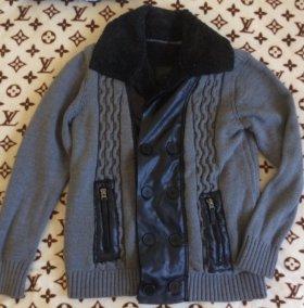 Вязаная куртка мужская