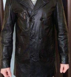 Френч (пиджак удлиненный) кожанный мужской р.50