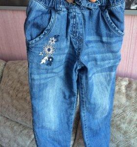 Утеплённые джинсы на 5 лет