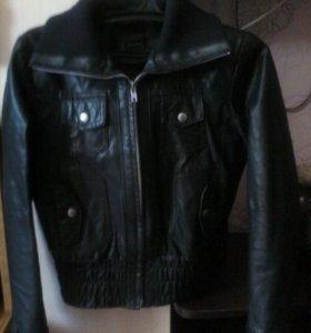 Кожаная куртка фирма vero moda 44-46