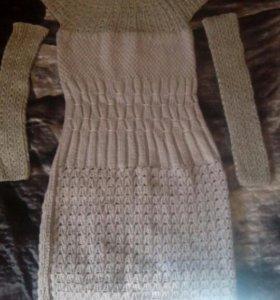 Платье шерстянное ручной работы