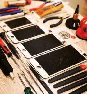 iPhone 5 5s 6 6s 6plus дисплей экран стекло замена