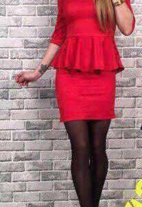 Новое красивое платье из спандекса ( замши)